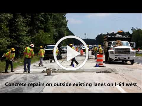 VDOT: I-64 Widening Construction: July / August 2017