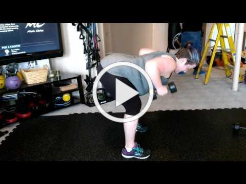 Dumbbell Bent Over Back Row