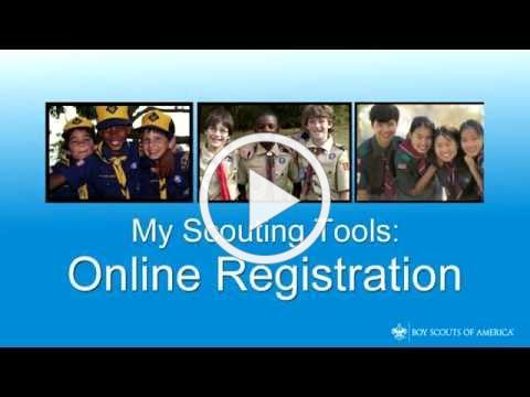 MyScouting Tools Online Registration