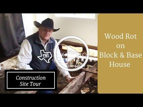 Construction Site Tour: Rotted Wood in Block & Base Home