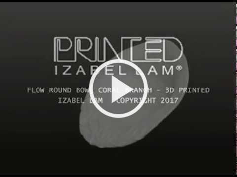 IZABEL LAM ROUND BOWL 3D PRINTED