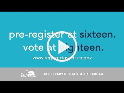 Our Time is Now: CA Pre-Registration PSA