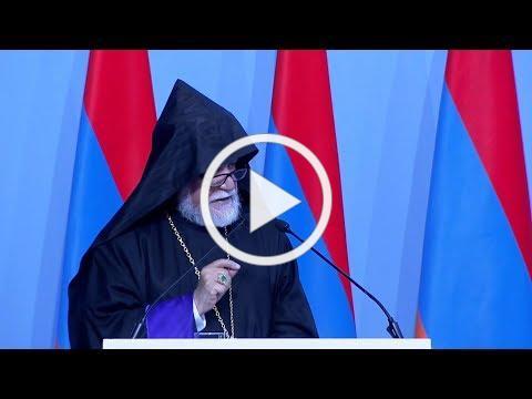 Ն.Ս.Օ.Տ.Տ. Արամ Ա. Կաթողիկոսին պատգամը՝ Հայաստան-Սփիւռք 6-րդ Համաժողովին
