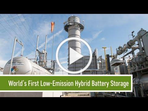 World's First Low-Emission Hybrid Battery Storage, Gas Turbine Peaker System