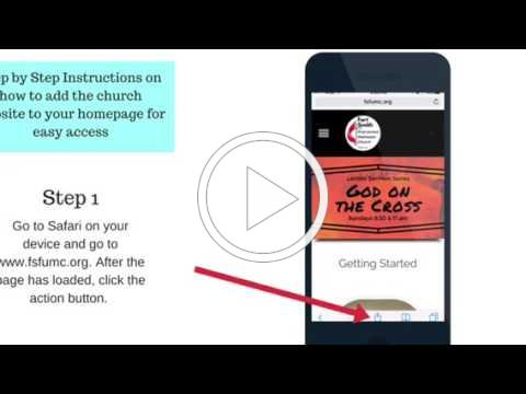Tutorial: How to Add Church Website to Phone Homepage