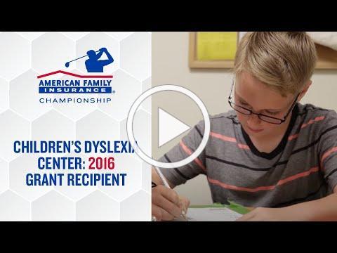 Children's Dyslexia Center Grant Recipient at the AmFam Championship | @AmFam®