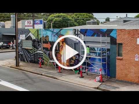 Edwardstown Mural - Timelapse April 2021