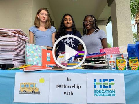 Students Organize Road to Success Supply Drive for HEF