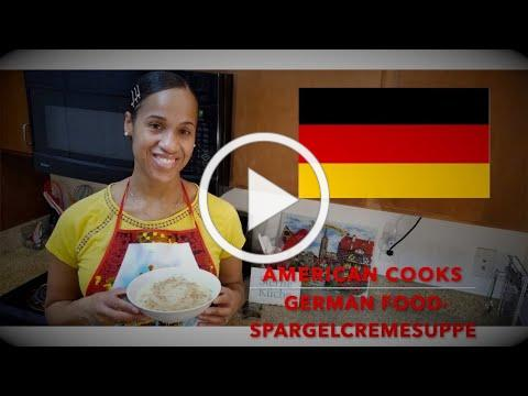American Cooks GERMAN Food - Spargelcremesuppe