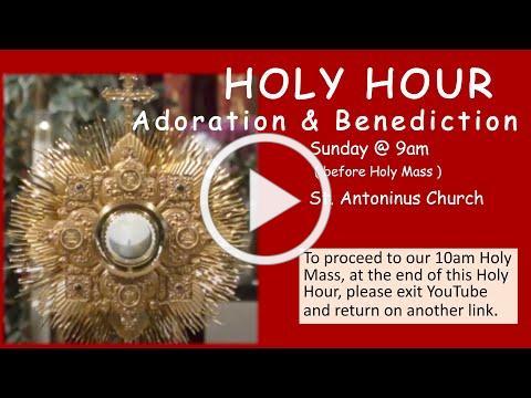 DIVINE MERCY HOLY HOUR - St Antoninus , April 11, 2021 at 9am