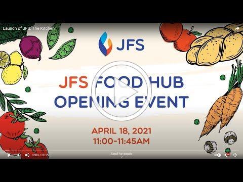 Launch of JFS: The Kitchen