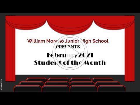 February WMJH Student of the Month