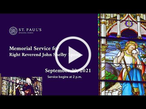Funeral Service for the Right Reverend John Shelby Spong