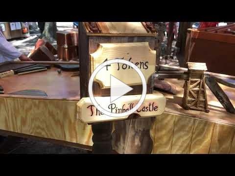 Arcade Davinci's Pinball Castle battle