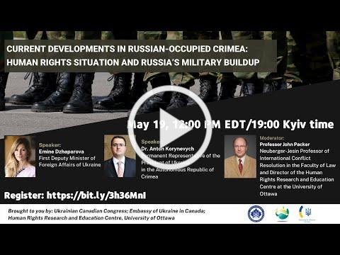 Webinar: Current Developments in Russian-occupied Crimea