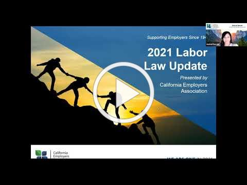 2021 California Labor Law Update with CEA
