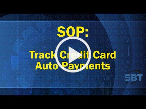 SOP: Tracking Credit Card Auto-Payments