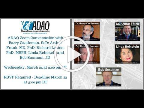 2021 ADAO Zoom Conversation with Lemen, Frank, Castleman, Sussman, and Reinstein