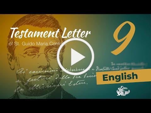 Episode 9: Testament Letter of St Guido Maria Conforti