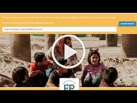 Peer to Peer Fundraising Tutorial - Family Promise Giving Day