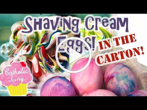 Shaving Cream Eggs- IN THE CARTON!!! So Easy! :-)