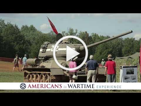 Tank Farm Open House featuring military vehicles, veteran interviews