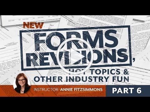 Forms Revisions, Part 6: Earnest Money