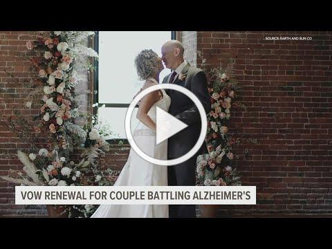 """Man with Alzheimer's proposes to wife after forgetting they were married; vow renewal was """"magical"""""""