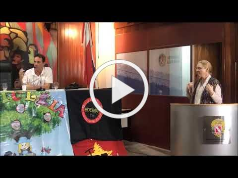 Amazon 34: The Amazon Day at the Parliament: Deputado Dirceu Ten Caten invites Evelin Lindner