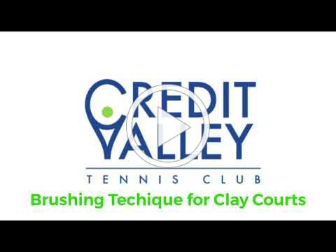 Brushing Technique for Clay Courts