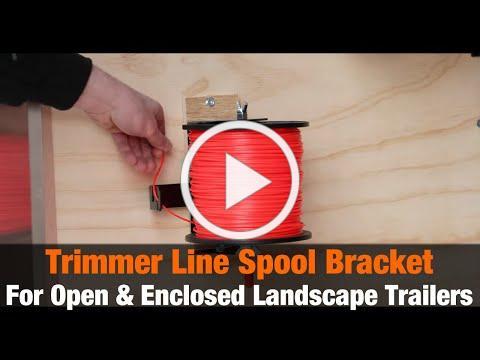 Trimmer Line Spool Bracket for Open/Enclosed Landscape Trailers (Part # LT40) | Product Overview