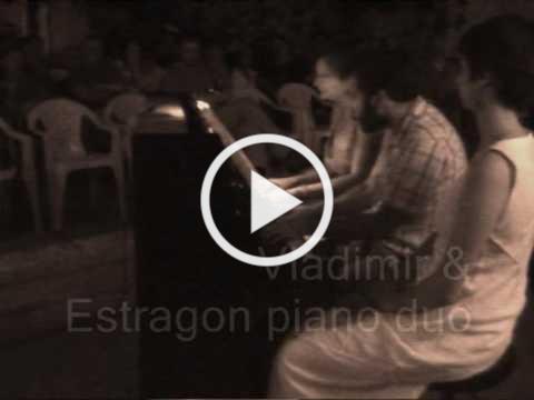 Vladimir & Estragon Piano Duo / Samuel Barber / Hesitation Tango