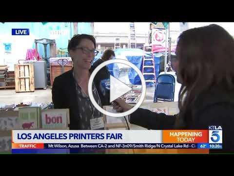 KTLA at the 10th Annual LA Printers Fair 10 a.m. segment