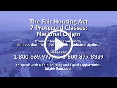 The Fair Housing Act Protected Classes: National Origin