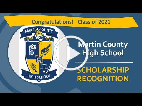 2021 Martin County High School Scholarship Recognition SY20-21