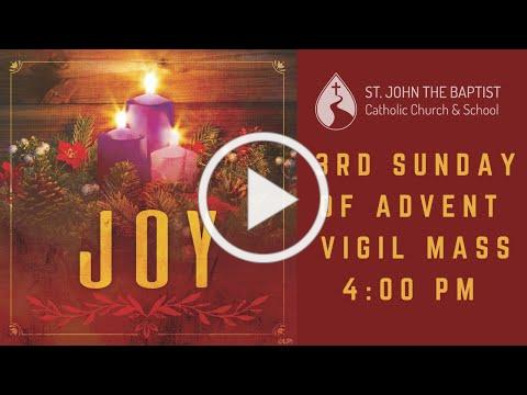 Mass for Saturday, December 12 - 4:00 pm
