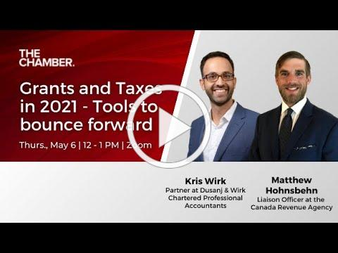 Grants and Taxes in 2021 - Tools to bounce forward (Clip)