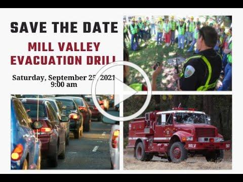 City of Mill Valley Evacuation Drill Event | Save The Date | September 25, 2021