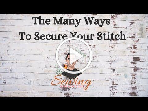 Sewing Machine Securing Stitches