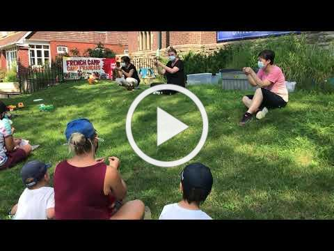 Circle time on the lawn!