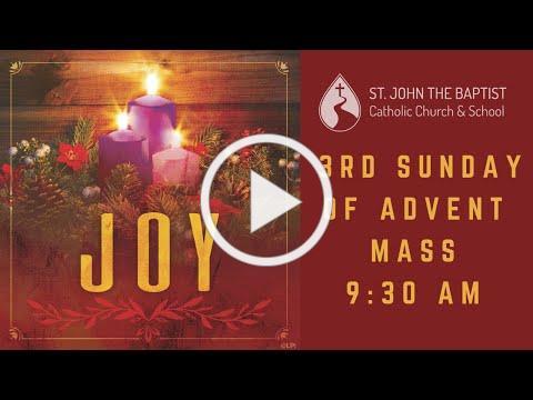 Mass for Sunday, December 13 - 9:30 am