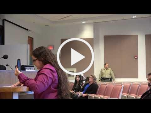 Brianna Hernandez Hamilton asked tough questions at February 5, 2019 Board of Supervisors meeting