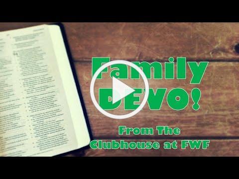 Family DEVO - week of 9/12/21