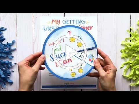 """My """"Getting Unstuck"""" Spinner - Resilience-Building Craft Activity for Kids"""