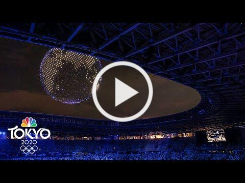 Dazzling drone display during Olympic Opening Ceremony | Tokyo Olympics | NBC Sports