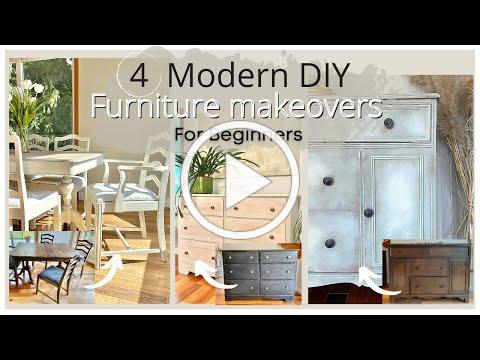 4 Modern DIY Furniture Makeovers: Chalk Painting For Beginners