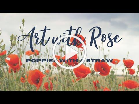 Celebrate Memorial Day with poppy flowers made with a straw