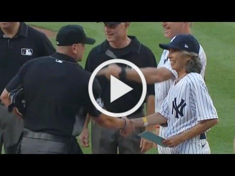 70-Year-Old Woman Becomes Yankees Bat Girl