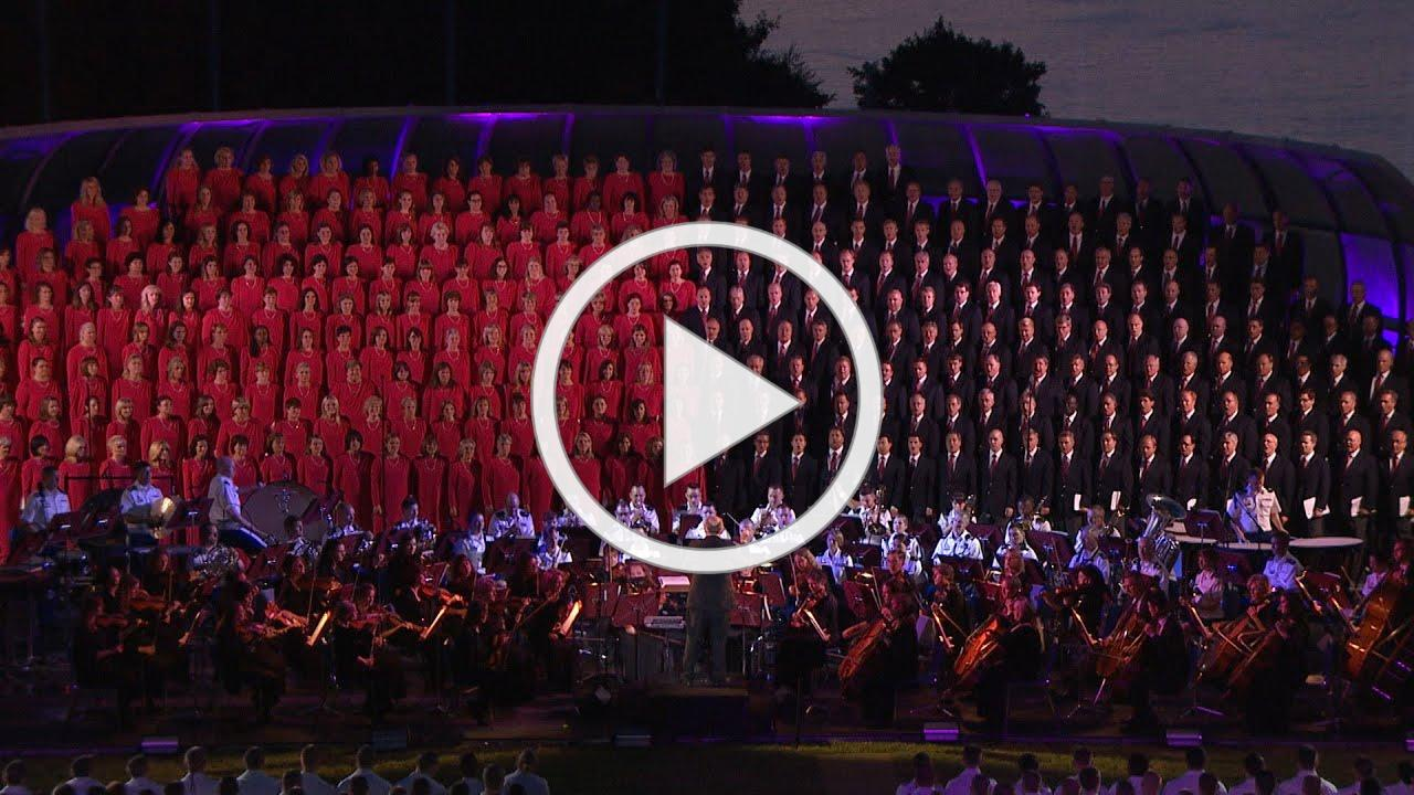 Mormon Tabernacle Choir from West Point singing Battle Hymn of the Republic