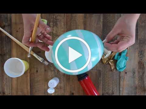 How to make Easter egg balloons